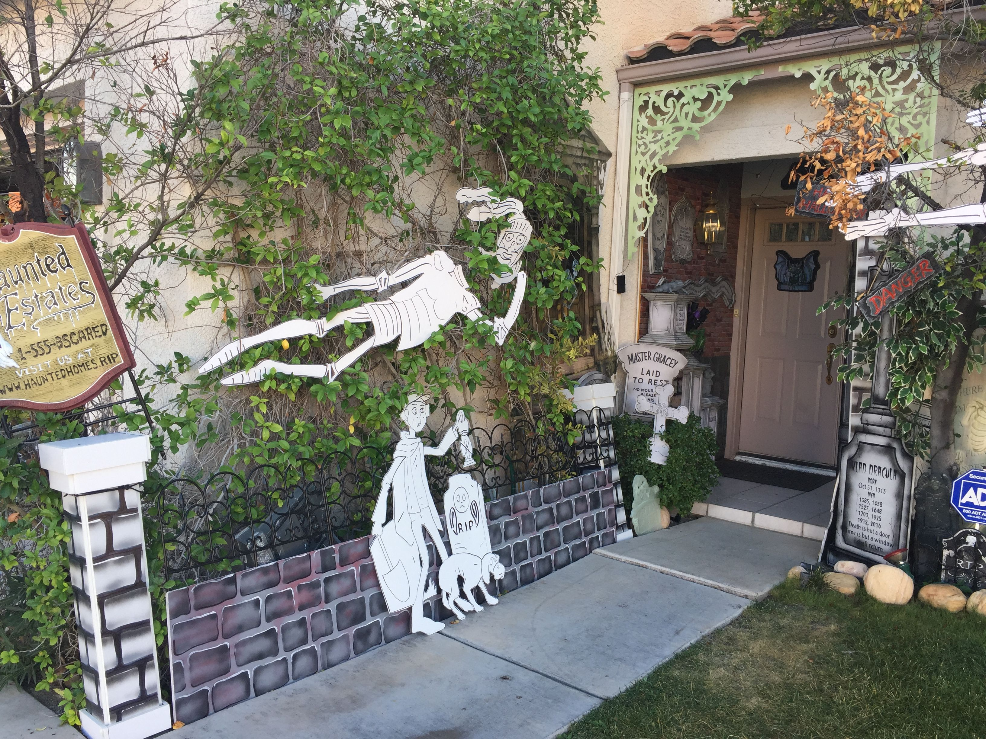 Ordinary Haunted Front Yard Ideas Part - 4: My Own Props- Halloween 2016- Haunted Mansion - Front Yard