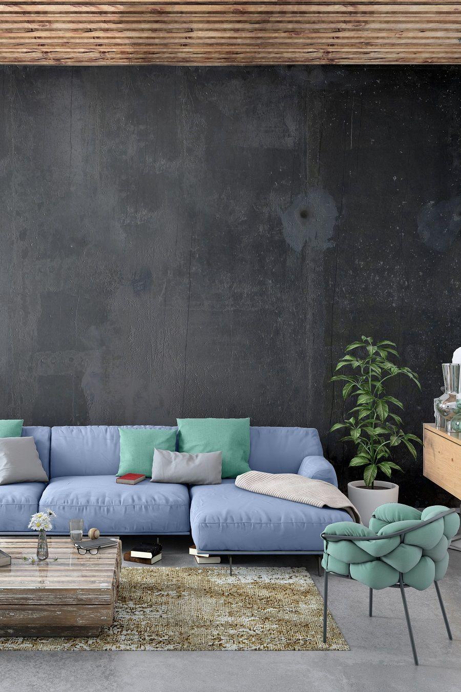 Leroymerlin Leroymerlinpolska Dlabohaterowdomu Domoweinspiracje Salon Sciana Farba Betonnascianie Home Decor Outdoor Decor Furniture