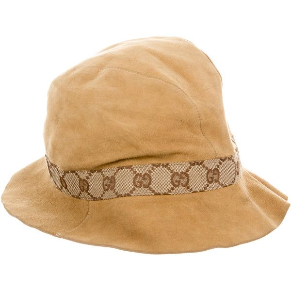 9a07f58c3 Pre-owned Gucci Suede Bucket Hat (5.546.550 VND) ❤ liked on ...