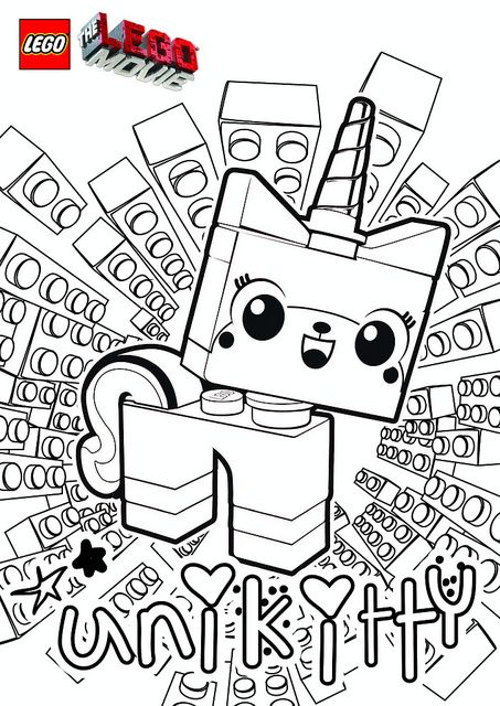 The LEGO Movie Coloring Pages - Unikitty by tormentalous, via Flickr ...