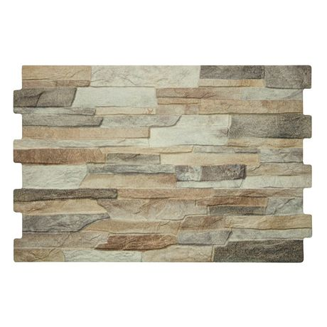 10 Textured Alps Stone Effect Wall Tiles 34 X 50cm