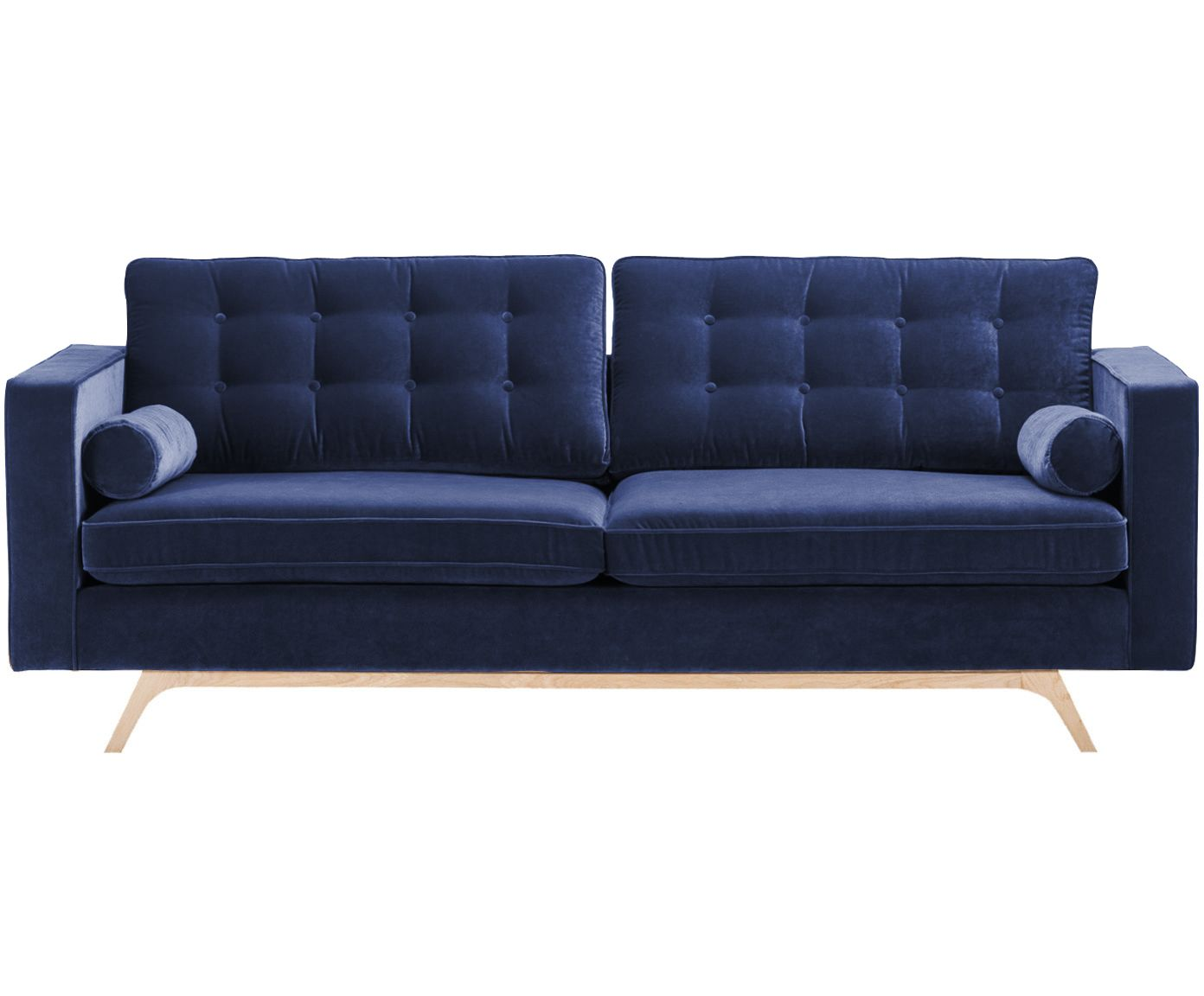 Chesterfield Sessel Samt Anna Sofa Samt Blau Wohn Design