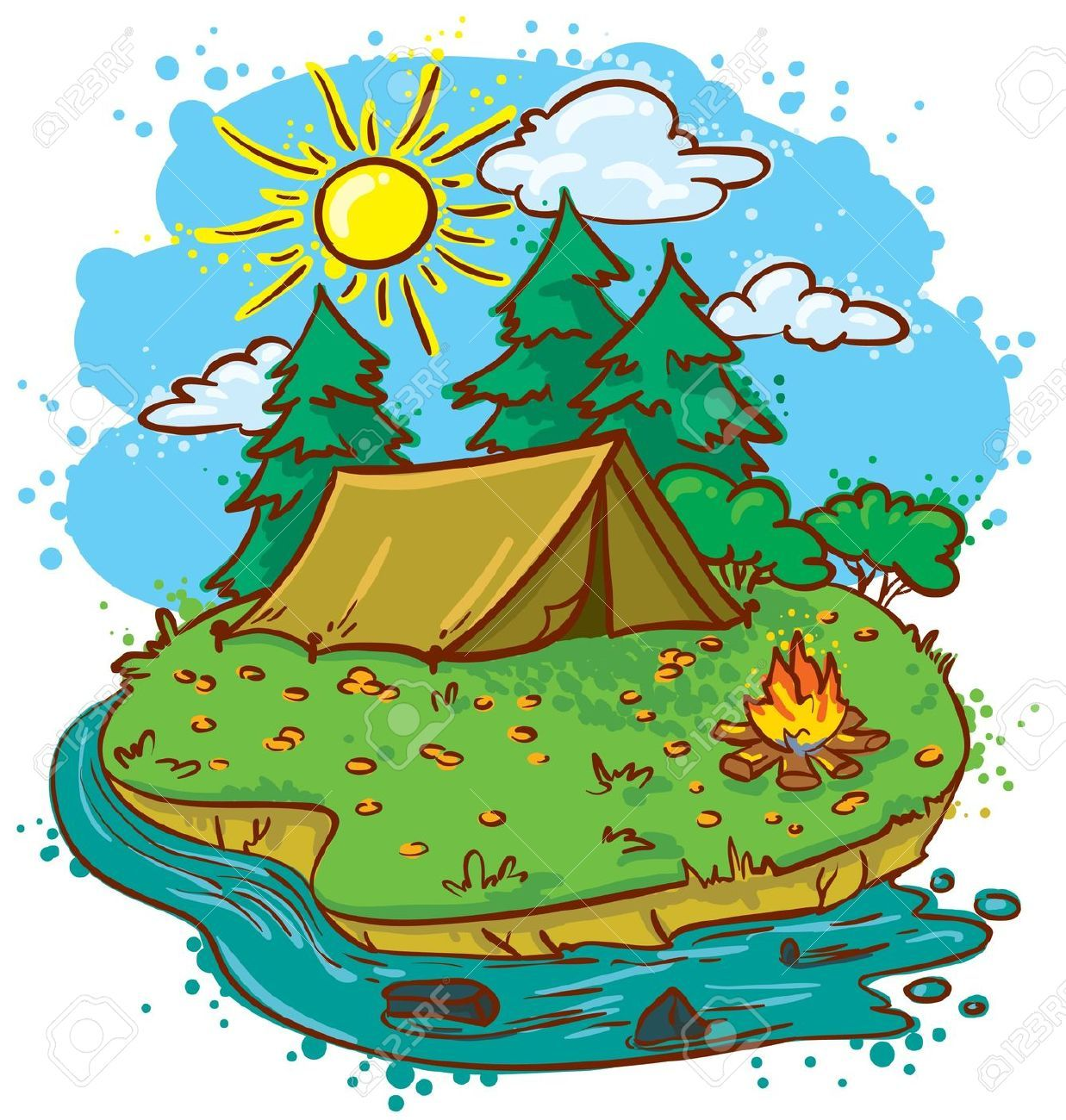 Summer Camp Stock Illustrations, Cliparts And Royalty Free ...