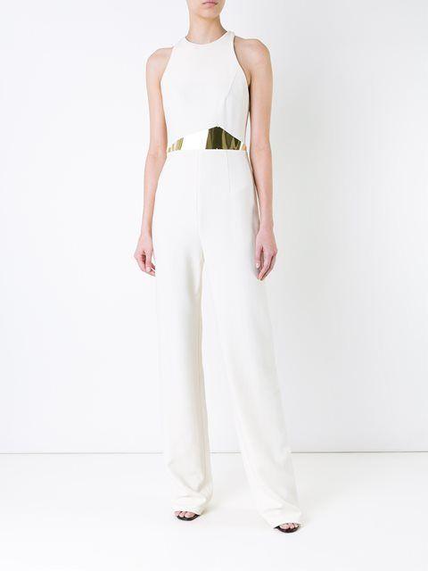 Jay Ahr Gold-tone Waist Detail Jumpsuit - Jay Ahr - Farfetch.com