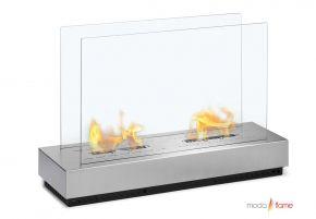 Moda Flame Braga Free Standing Floor Indoor Outdoor Ethanol #Fireplace