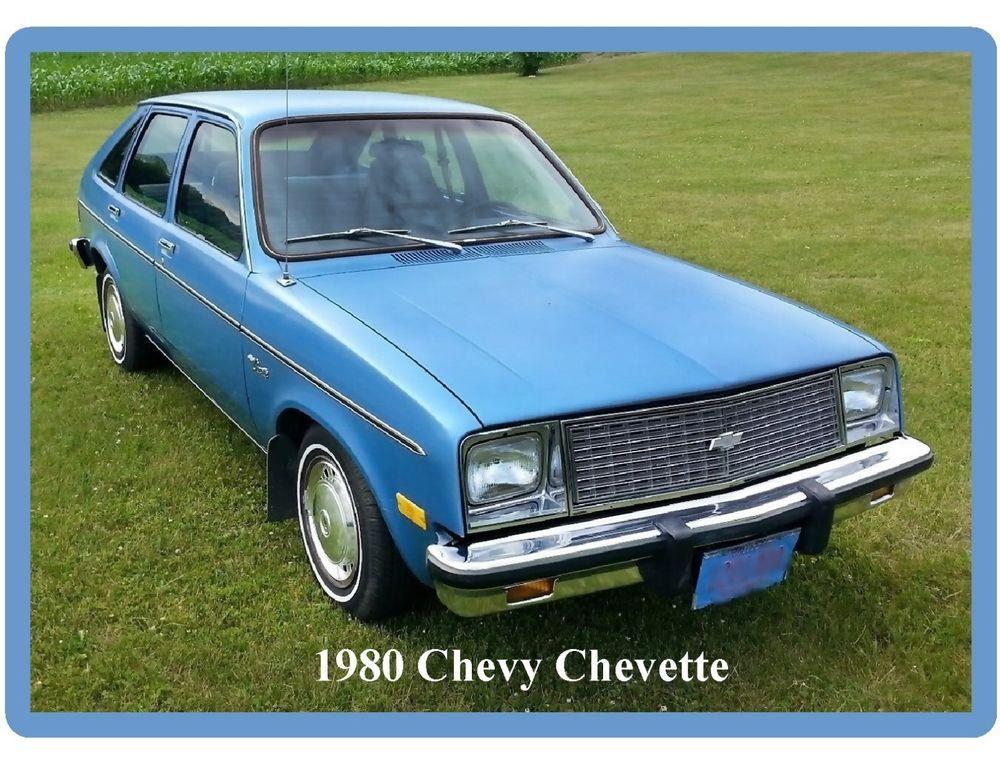Tool Box Magnet 1980 Chevy Chevette Blue Auto Refrigerator