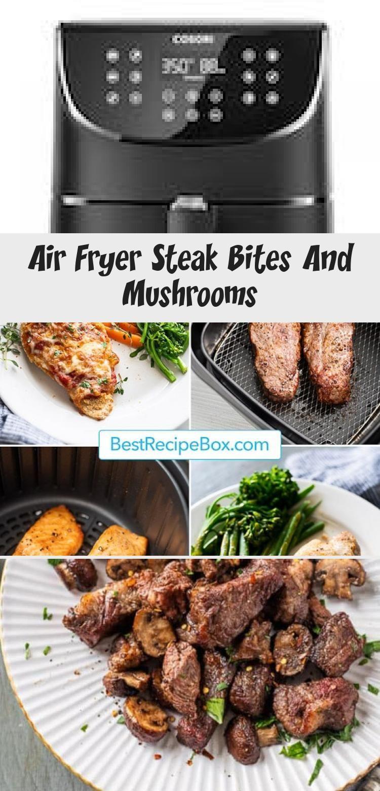 Air Fryer Steak Bites And Mushrooms Steak bites, Baked