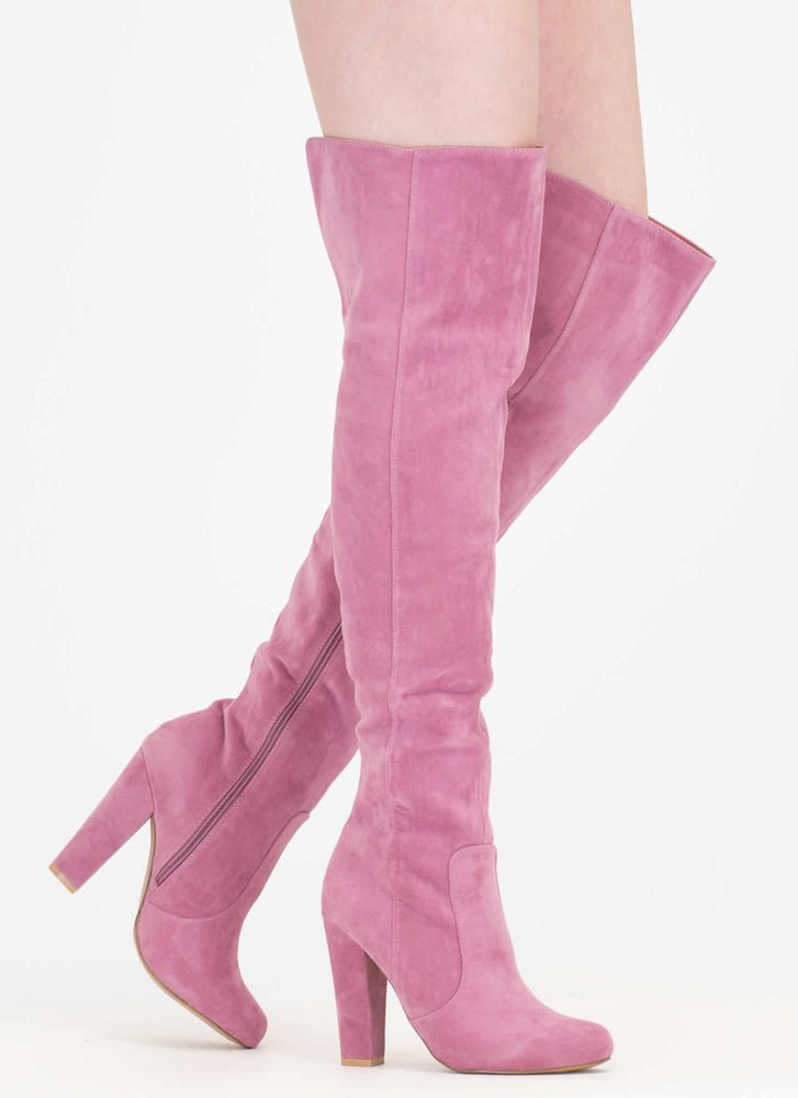 f77275c9f30a Walking Tall Over-The-Knee Boots MAUVE