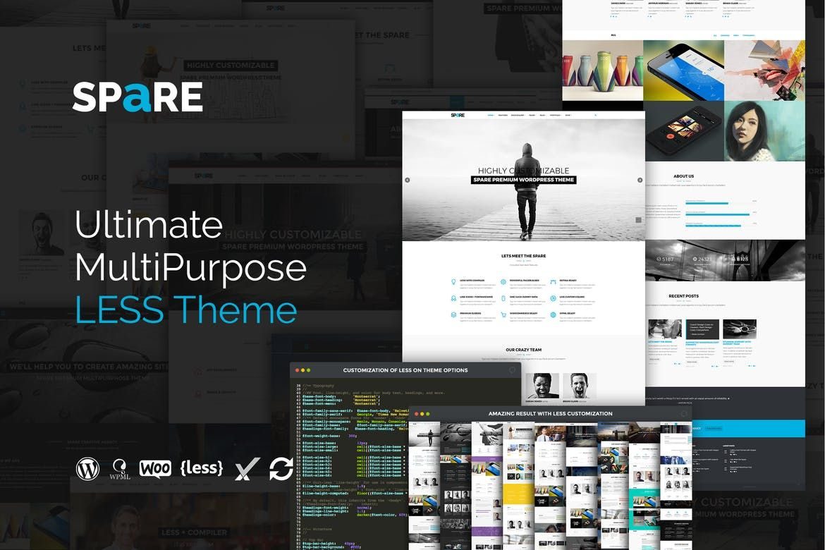 Spare - Ultimate MultiPurpose LESS Theme by themeton on