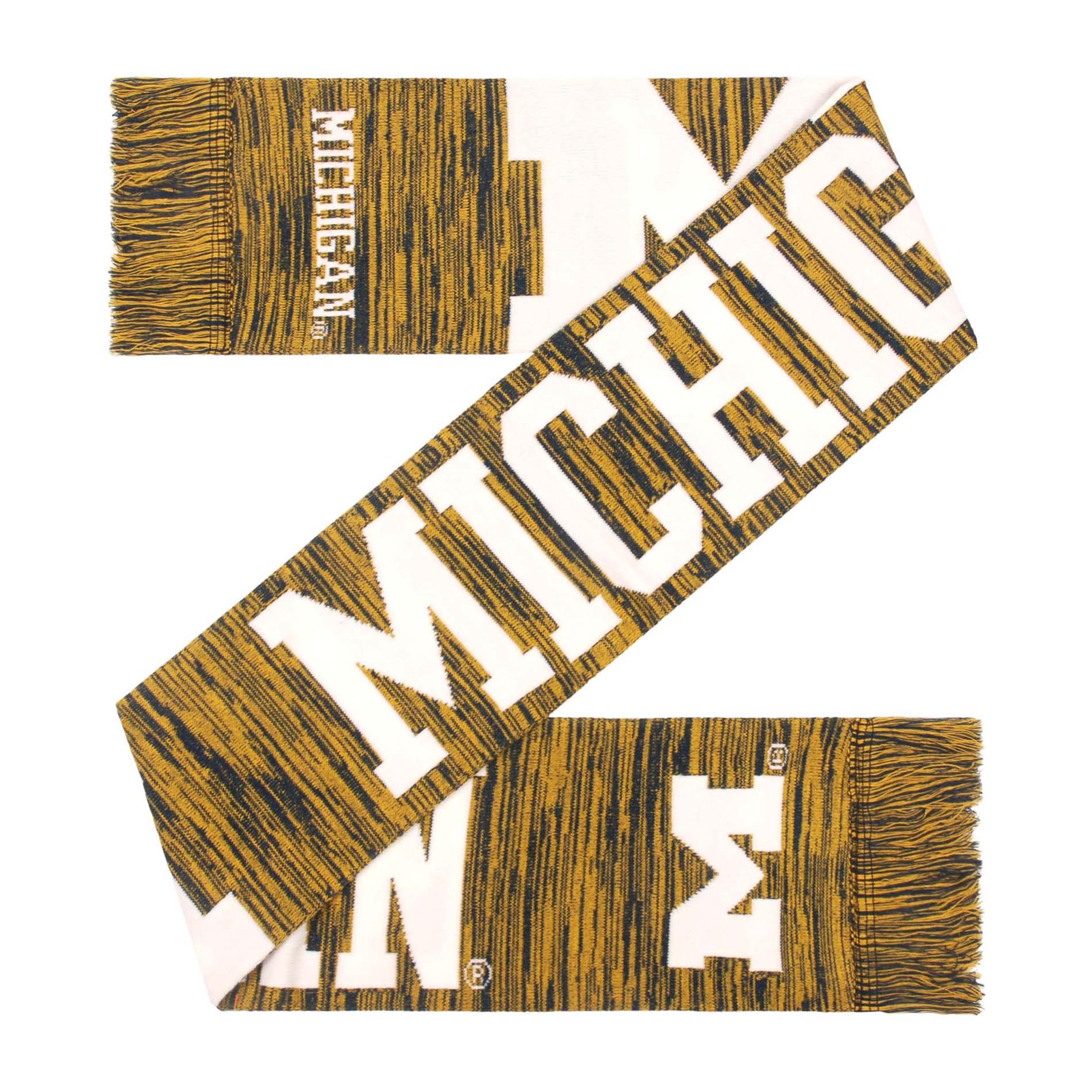 Ncaa Women's Wordmark Big Logo Colorblend Scarf - Michigan Wolverines