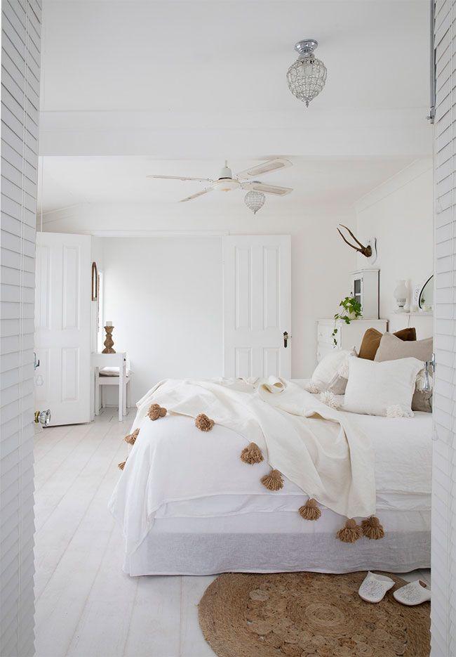 All White Boho Inspired Home Deco Chambre Blanche Decoration