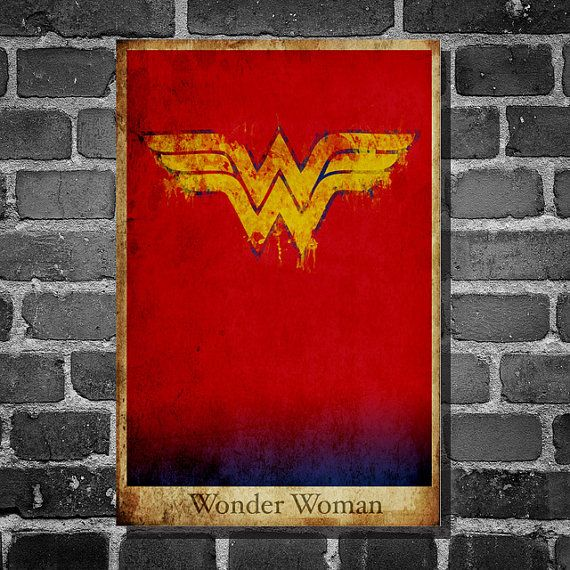 Wonder Woman retro poster minimalist poster movie by Harshness, $19.00