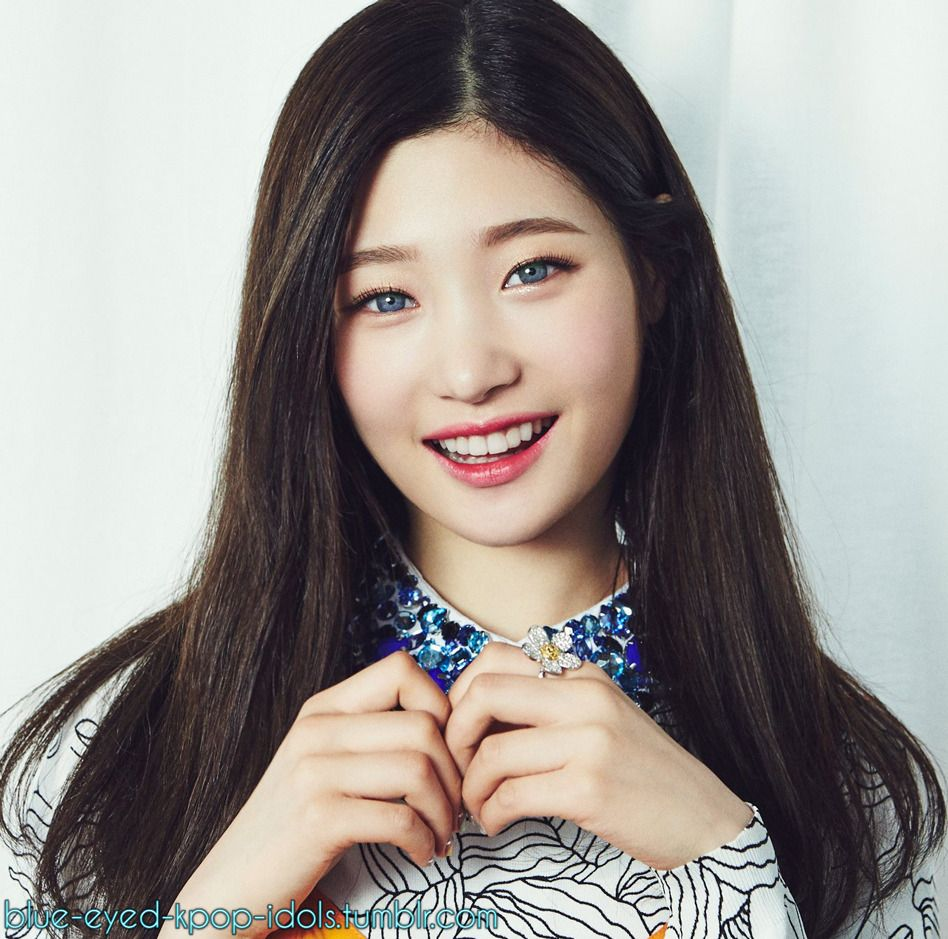Blue Eyed Kpop Idols Chaeyeon Look Magazine Jung Chaeyeon