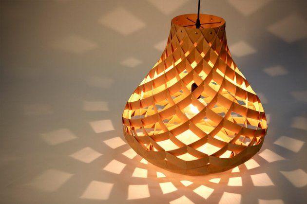 Woven Bamboo Veneer Pendant Lighting By Edward Linacre Diy