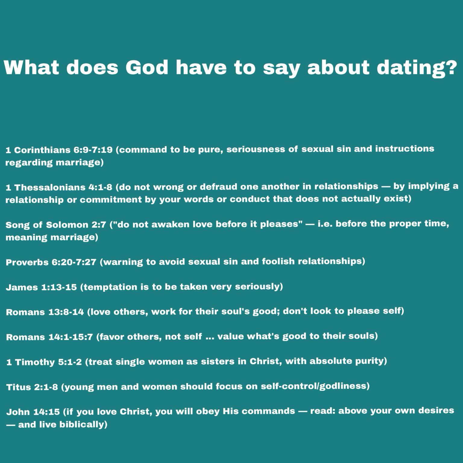 Best youth advice dating christian