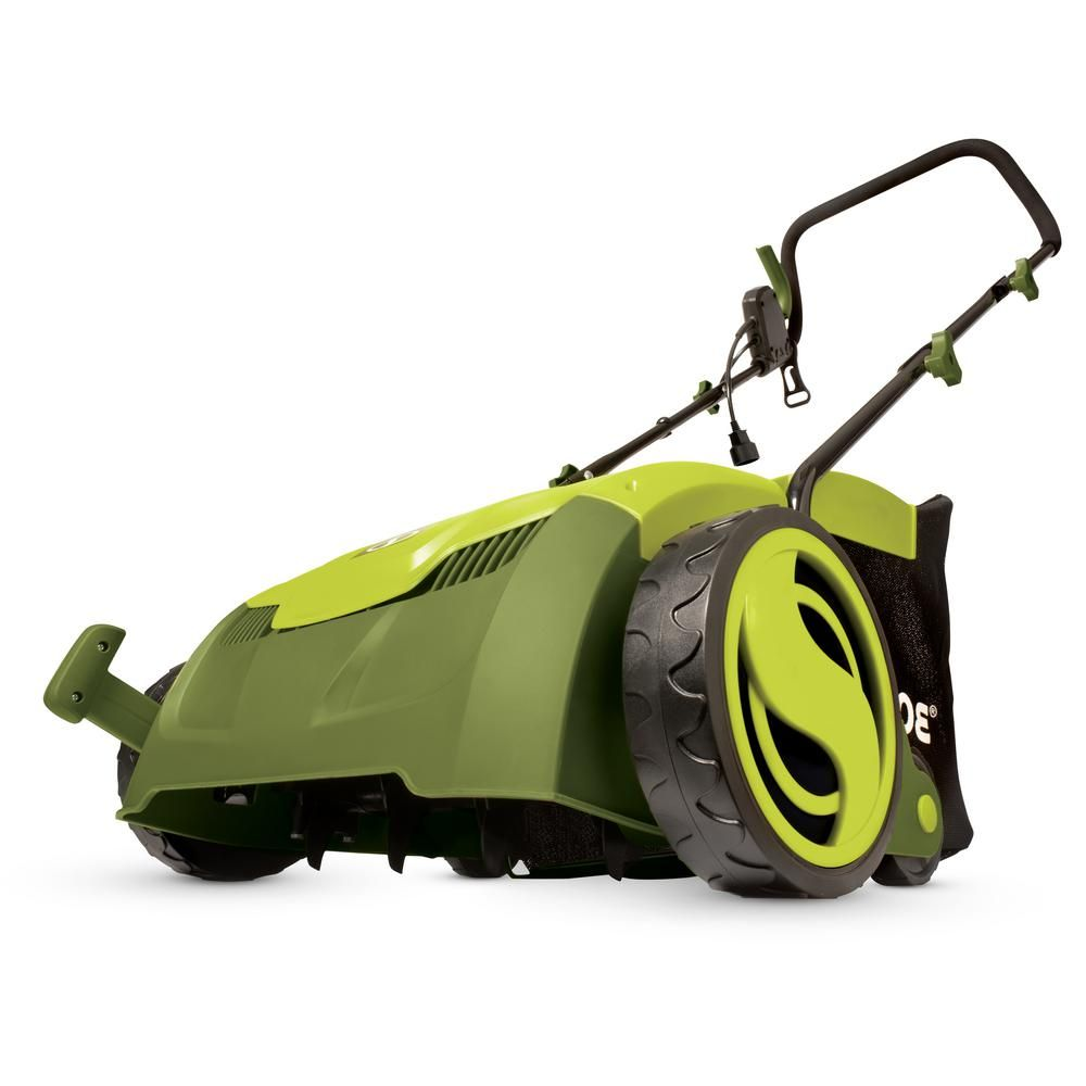 Sun Joe 13 In 12 Amp Electric Scarifier Lawn Dethatcher With Collection Bag Bag Sale Lawn Mowers For Sale