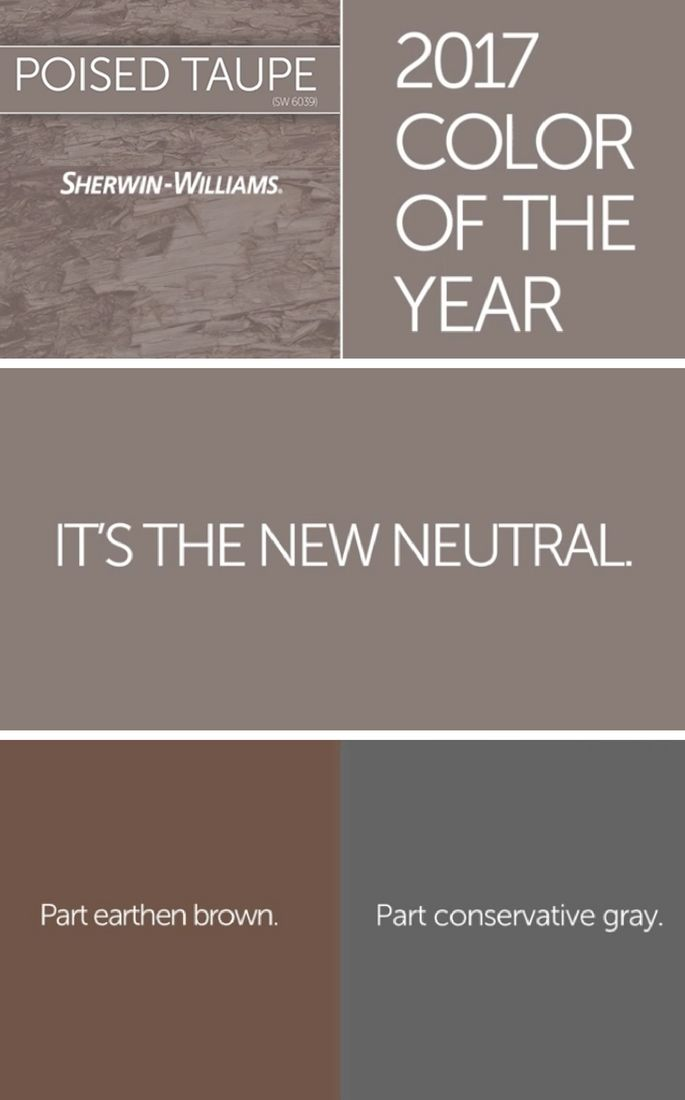 Taupe Paint Colors Living Room: Color Of The Year 2017: Poised Taupe