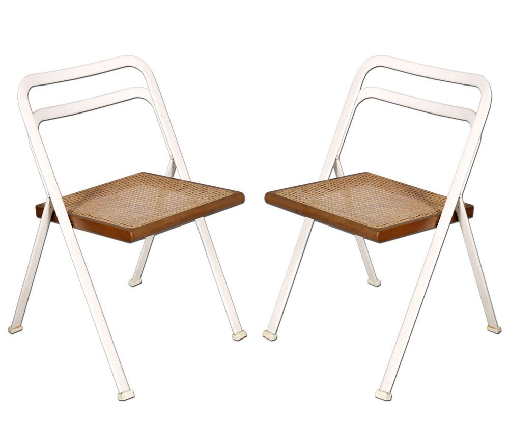 Sedie O G ~ Pair of folding chairs sedie pieghevoli cidue afra e tobia