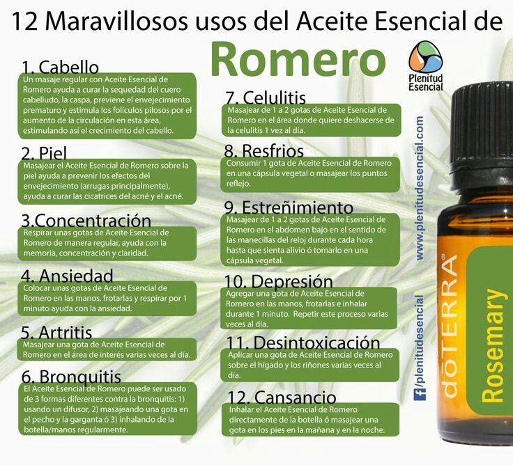 Romero usos doterra pinterest aceites esenciales for Aceites esenciales usos