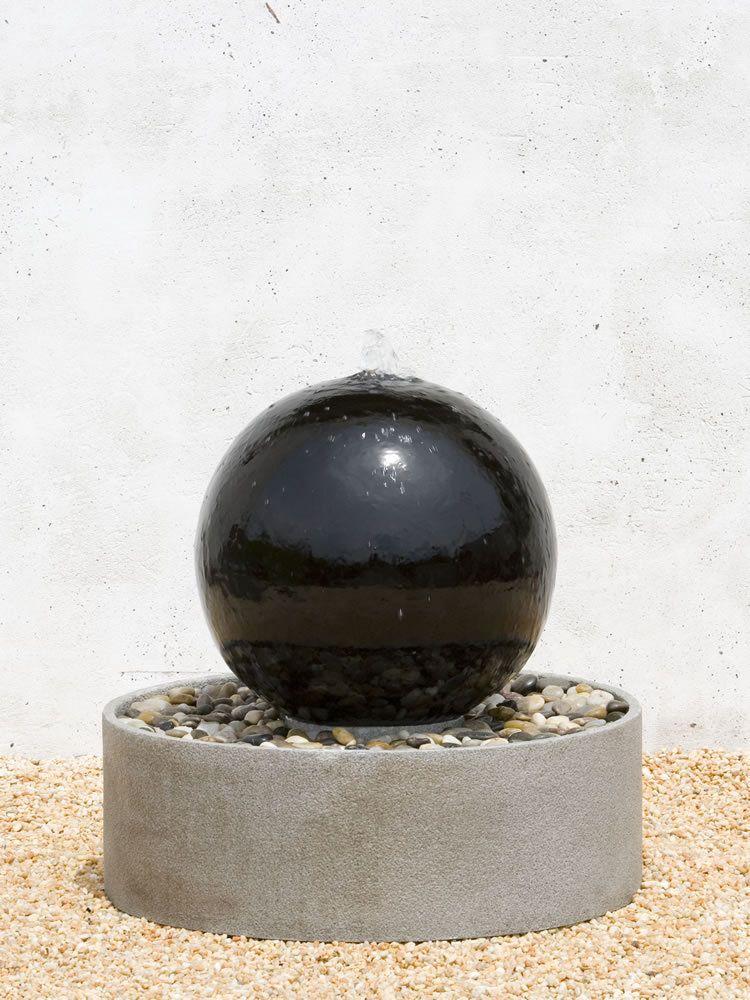 Ceramic Sphere Fountain   Garden Fountains U0026 Outdoor Decor