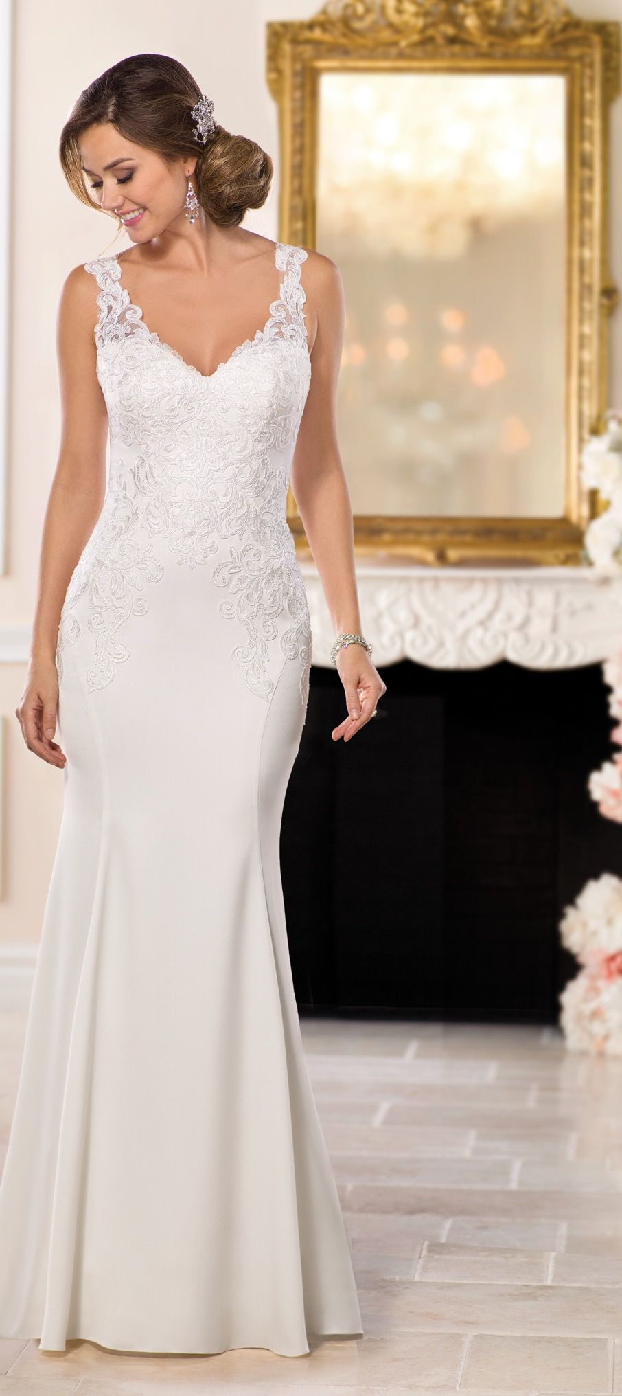 cecc7cdf75c Available   Low s Bridal. STELLA YORK STYLE 6514. Available   Low s Bridal.  Casual Lace Wedding Dress ...