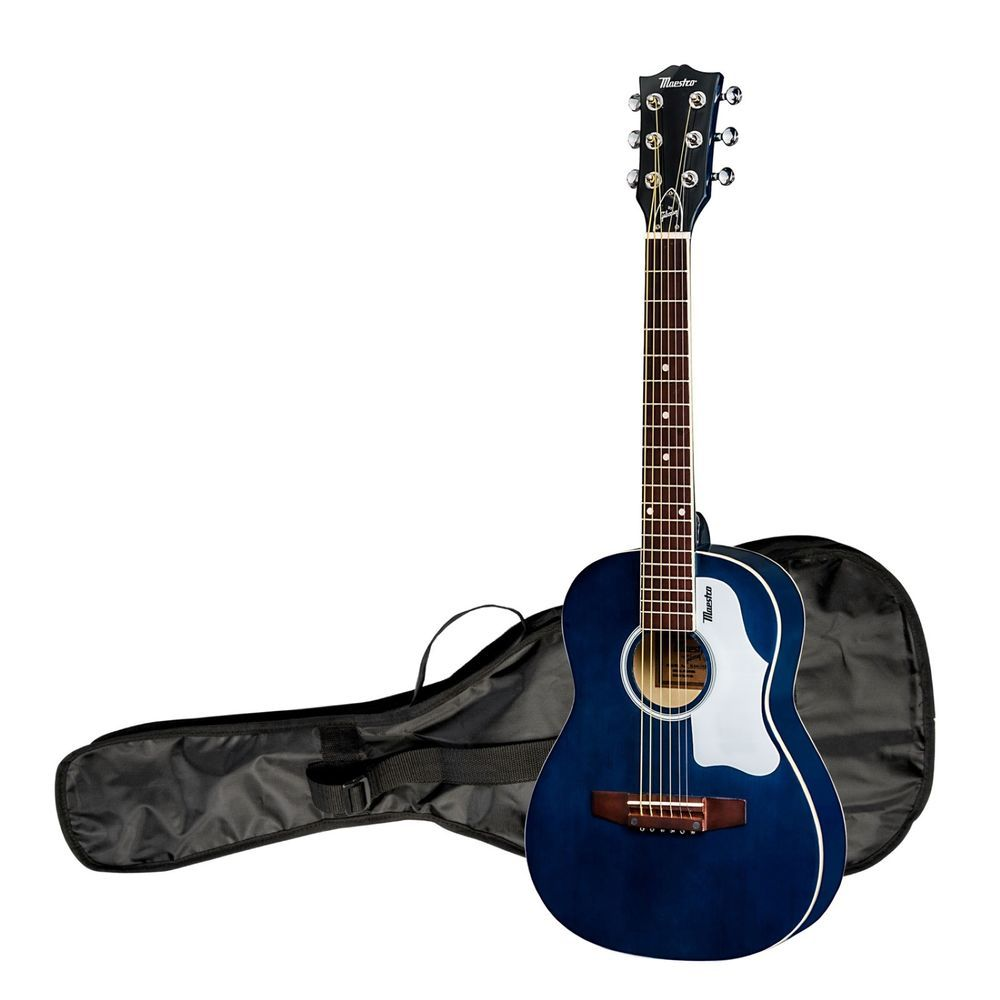 Mini Acoustic Guitar 30 Small Travel Kids Children Beginners Youth Blue Bag Musical Instruments Gear Guitars Acoustic Guitar Kids Acoustic Guitar Guitar