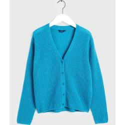 Gant Gerippter Woll Cardigan (Blau) GantGant #sweaterandcardigan