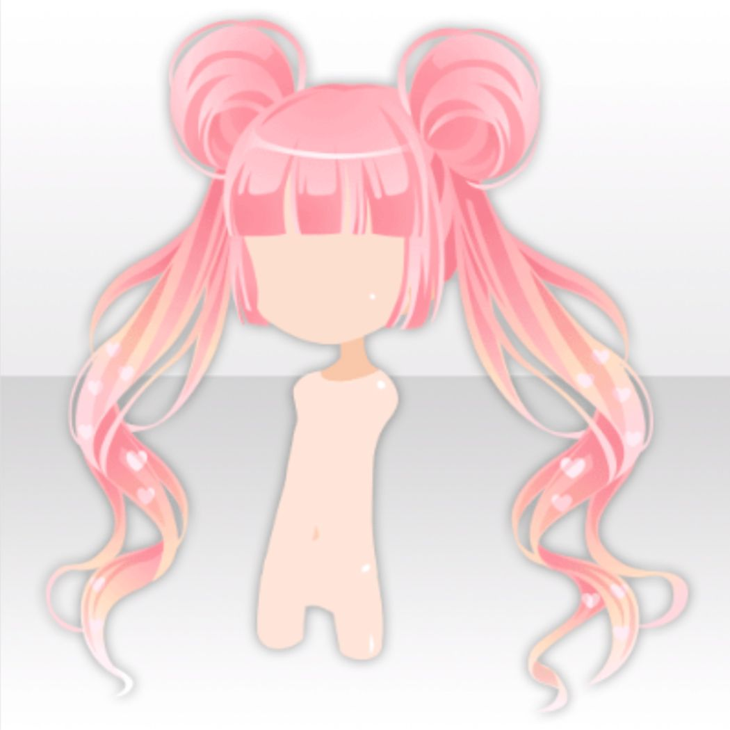 Lovely Buns On Twin Tails Hair Ver A Pink Manga Hair Anime Hair Chibi Hair