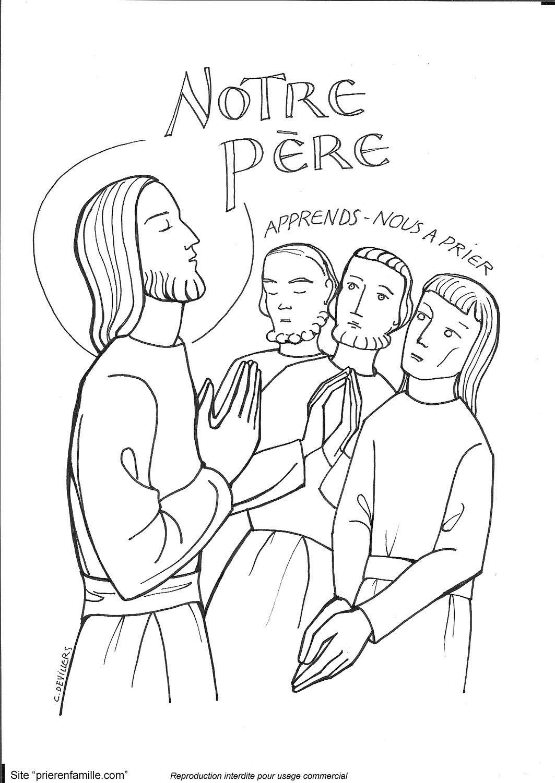Svj 14 apprends nous prier dessin eveil la foi catholique pinterest la foi eveil - Coloriage catholique ...