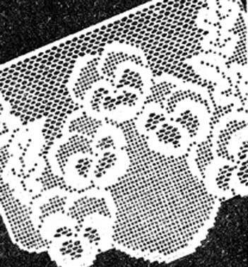 Free Filet Crochet Tablecloth Patterns Filet Crochet Pattern Pansy