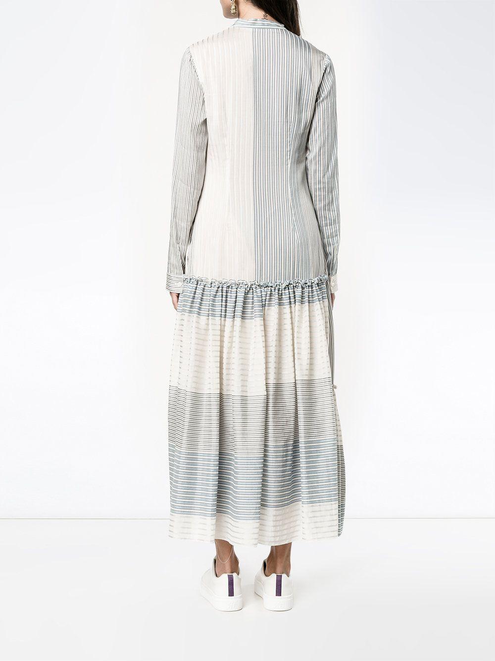 85ee537c136 STELLA MCCARTNEY Полосатое Платье с Длинными Рукавами - Купить в Интернет  Магазине в Москве