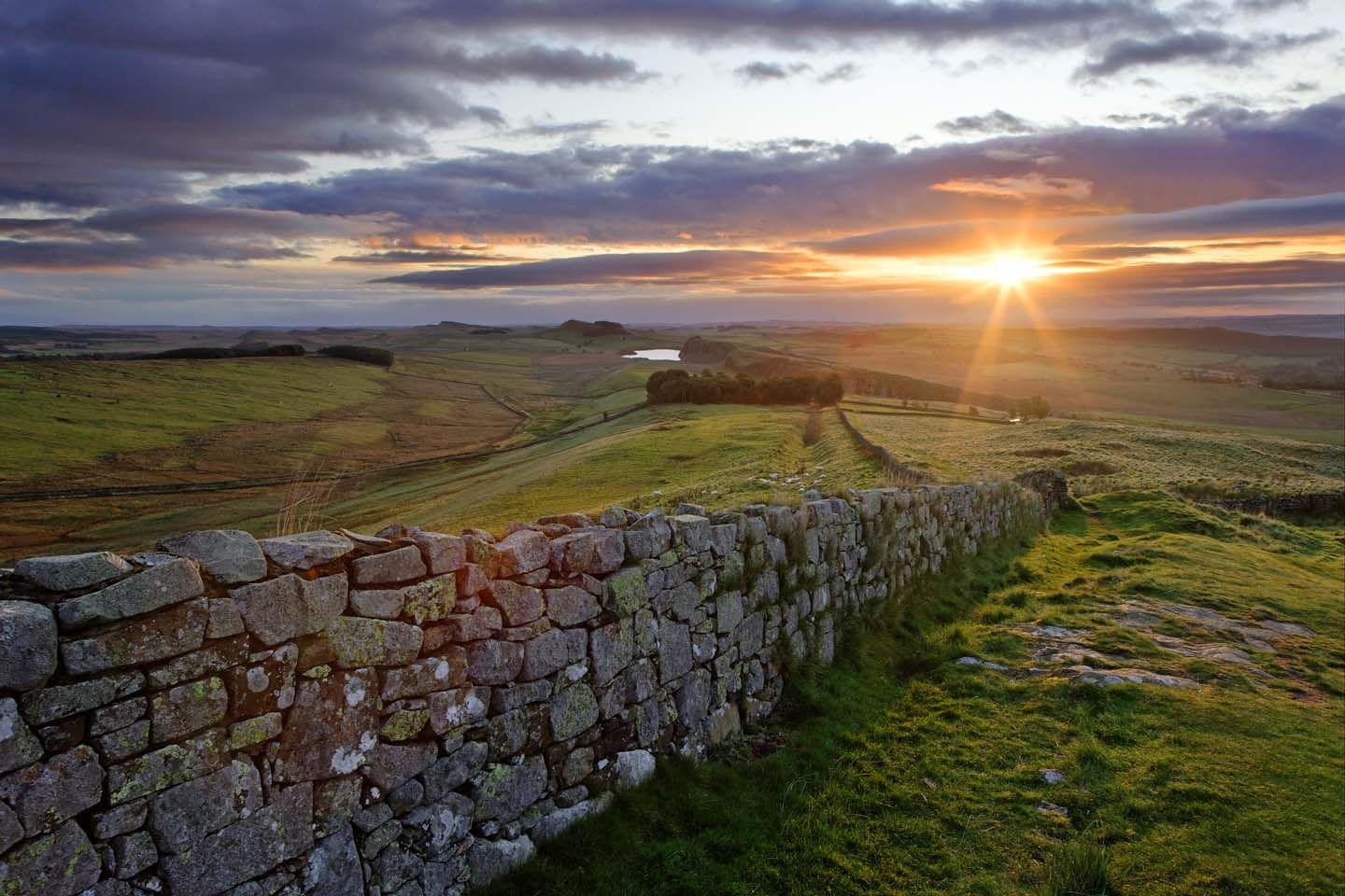 Hadrian's Wall.   It was made a UNESCO World Heritage Site in 1987.