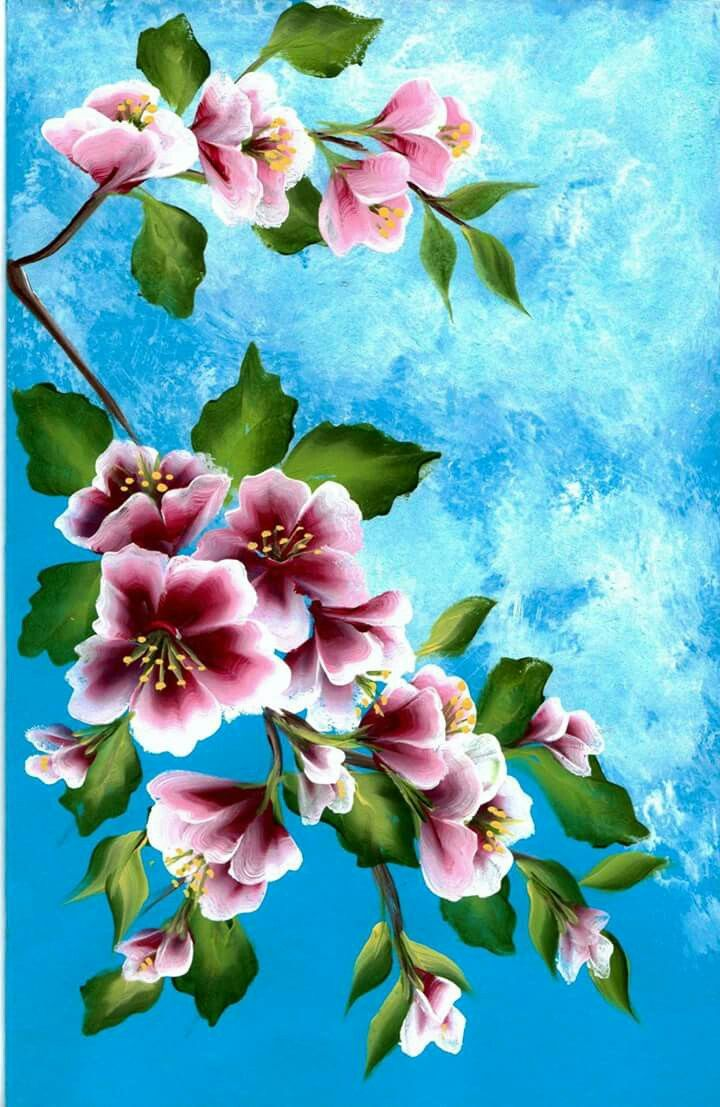 Am Going To Try This Flower Painting Acrylic Painting Flowers Flower Art