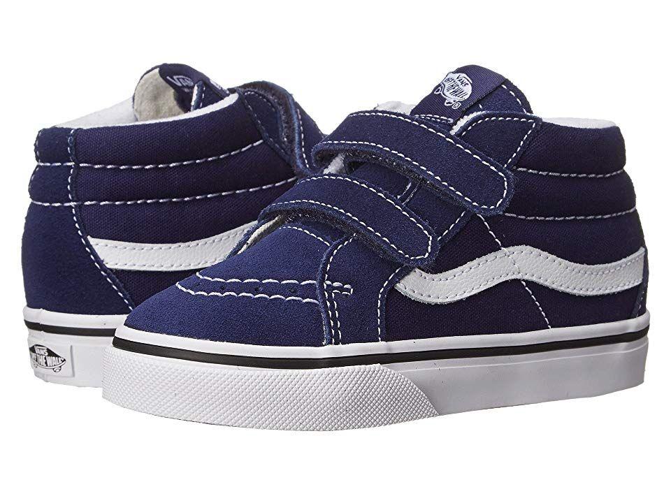 2804eea3f8 Vans Kids SK8 Mid Reissue V (Toddler) Kids Shoes Patriot Blue True White