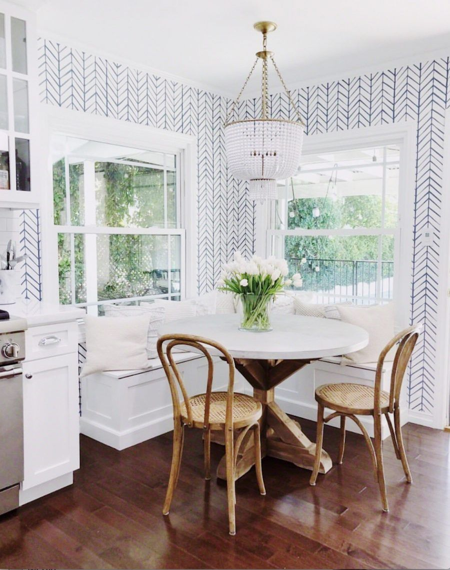 How To Design A Beautiful Kitchen Banquette White Round