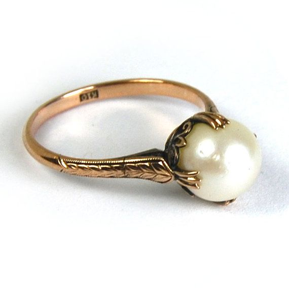 I Would Adore A Pearl Engagement Ring Vintage Gorgeous Setting Unique For My Inner Mermaid