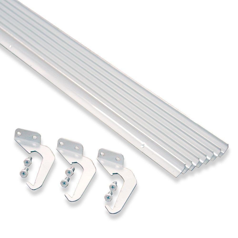 Rainhandler 4 In X 50 Ft White Aluminum Gutter With Brackets Screws Value Pack Of 50 Ft Vp10 Rhp 5w The Home Depot Gutters Rain Gutter Cleaning Gutter