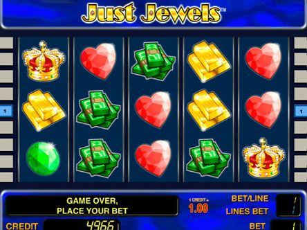 Игровой автомат Just Jewels на реальные деньги с выводом.  Игровой автомат Just Jewels посвящён деньгам и драгоценностям, и поэтому многие гемблеры выбирают его для игры на реальные деньги с выводом.