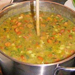 Photo of Pea stew according to the Bundeswehr recipe