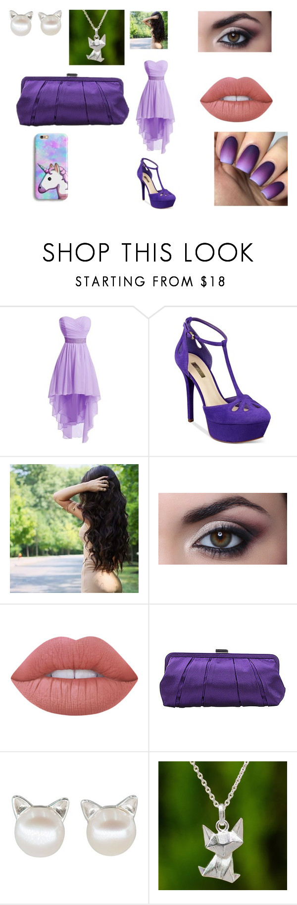 """""""Aphmau goes to prom"""" by hannah-may-malone on Polyvore featuring GUESS, Lime Crime, Nina and NOVICA"""