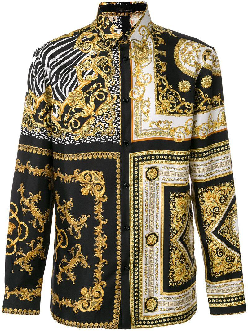 90b48006 VERSACE SIGNATURE PRINT SHIRT. #versace #cloth # | Versace Men ...