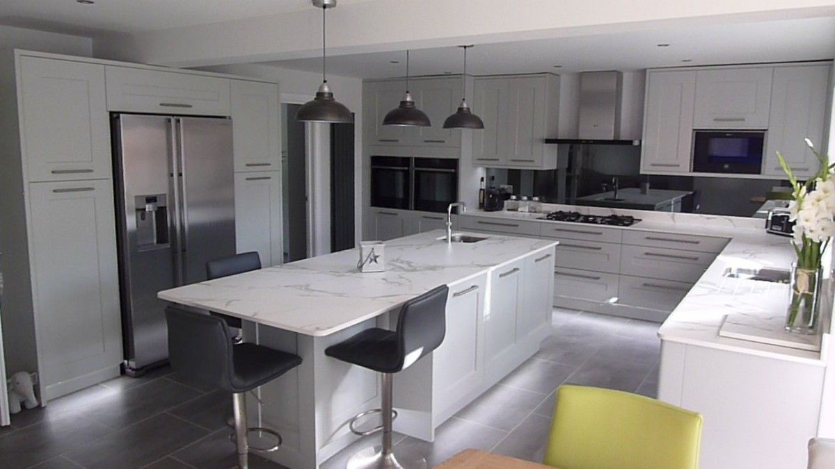 Best Fitzroy Partridge Grey Kitchen Fitted In Barton Le Clay 400 x 300