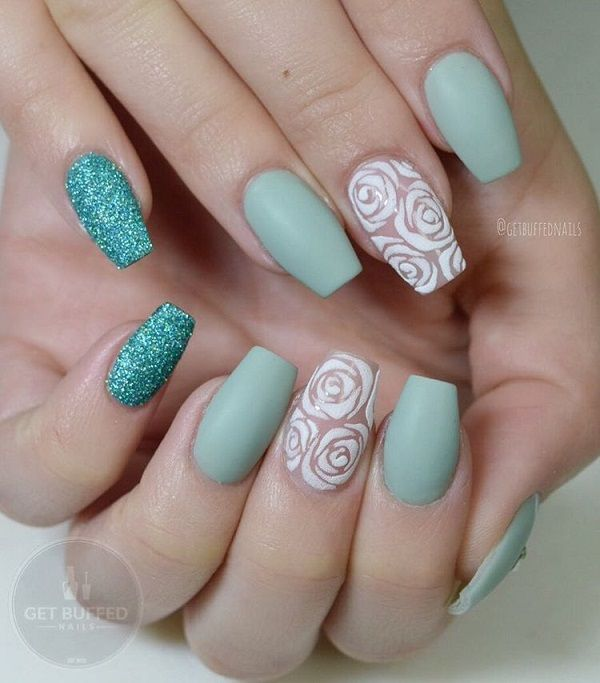 Rose Nail Art Design - 50 Rose Nail Art Design Ideas Coffin Nails Pinterest Nails