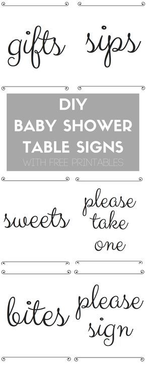Diy Baby Shower Table Signs With Free Printables Katie Crenshaw Baby Shower Signs Printable Diy Baby Stuff Baby Shower Diy