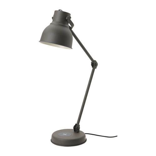 Https Www Ikea Com No No P Hektar Arbeidslampe Med Tradlos Lading Mork Gra 60323436 Ikea Work Lamp Led Bulb Lamp