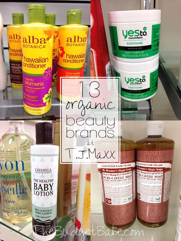 13 Organic Beauty Brands We Found At T J Maxx And You Might Too Organic Beauty Brands Organic Beauty Beauty Brand