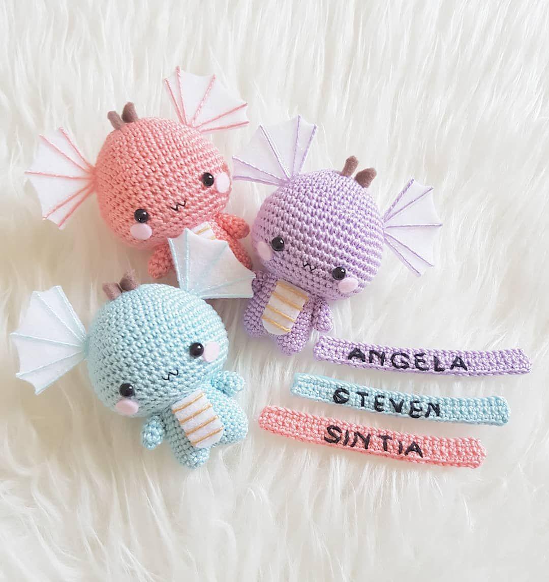 Additional Name Tag 🤗Dragon Free Pattern | Crochet | Pinterest ...