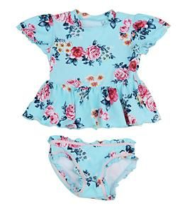 I kind of like this swimming suit for little girls....it's a little retro