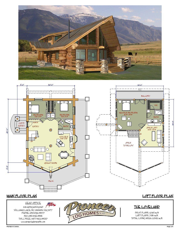 Loveland Pioneer Log Homes Midwest Log Home Floor Plans Log Cabin Floor Plans Cottage Plan