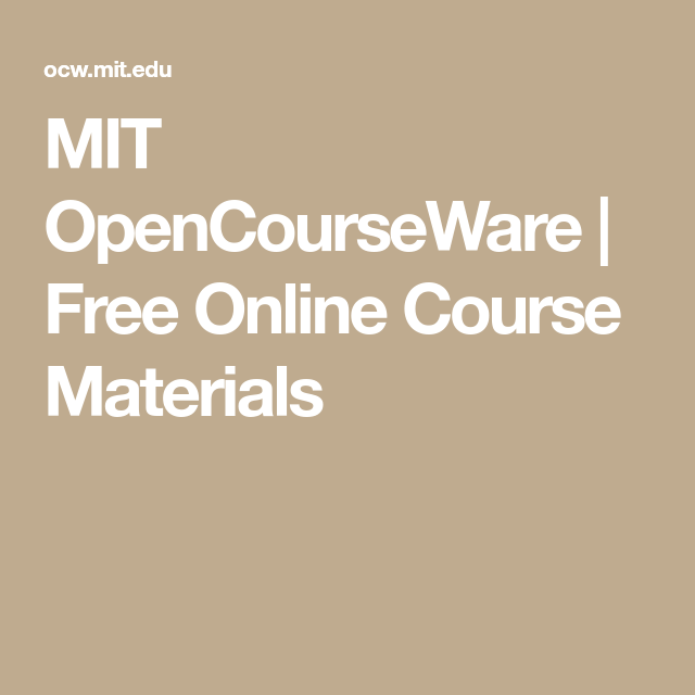 mit opencourseware calculus book Mathematics at mit | free from mit opencourseware  find this pin and more on mathematics at mit | free from mit opencourseware by mit  his calculus book is.